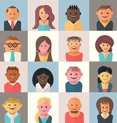 People Avatars vector image vector image