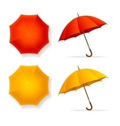 Umbrellas Set Top and Front View vector image