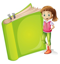 A girl and a book vector image