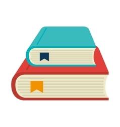 books cartoon isolated vector image