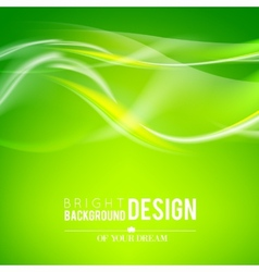 Bright green waves vector image vector image