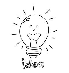 bulb idea Doodle vector image vector image