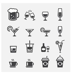drink icon vector image vector image