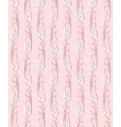 floral seamless lace pattern with flowers vector image