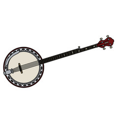 red five string banjo vector image vector image