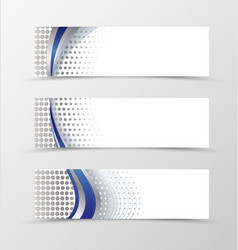 Set of banner design vector image vector image