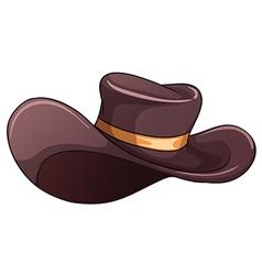 A dark grey hat vector image