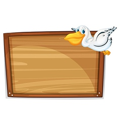 A flying duck and the empty board vector image