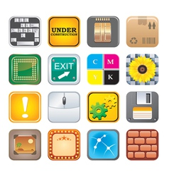 Apps icon set five vector