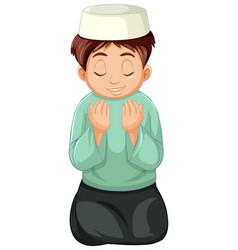 Arab muslim boy in traditional clothing isolated vector