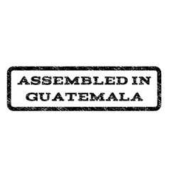 assembled in guatemala watermark stamp vector image