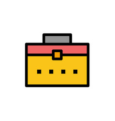 Bag worker bag user interface flat color icon vector