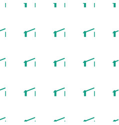 Barrier icon pattern seamless white background vector