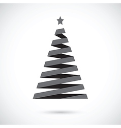 black christmas tree vector image