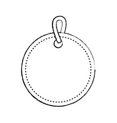 blank tag icon image vector image