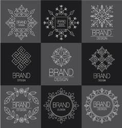 Brand design element for business vector