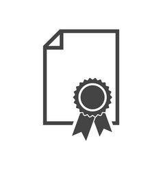 certificate icon diploma symbol flat on white vector image