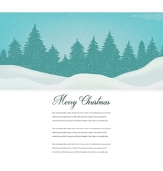 Christmas card with winter landscape and space for vector image