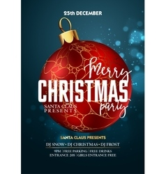 Christmas Party design template with decoration vector