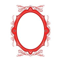 Circus vintage frame vector