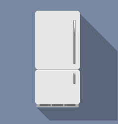 closed refrigerator with freezer vector image