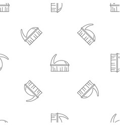 clothes brush icon outline style vector image