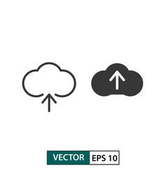 cloud upload icon set isolated on white eps 10 vector image