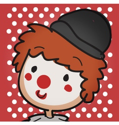 clown close up vector image