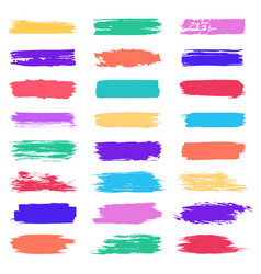 coloured brush stroke grunge paintbrush stroke vector image