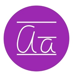 Cursive letter a line icon vector