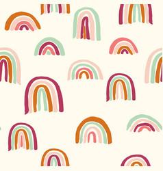 Earthy rainbows allover vector