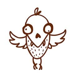 hand drawn bird creature vector image