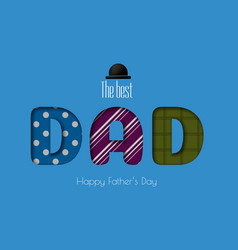 happy father s day calligraphy greeting card vector image