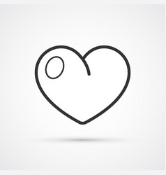 heart flat line trendy black icon eps10 vector image