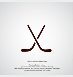hockey sticks icon simple game element athletic vector image