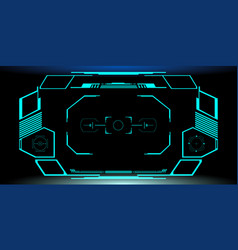 hud futuristic elements automatic virtual target vector image