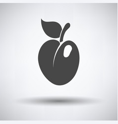icon of plum vector image