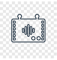 intercom concept linear icon isolated on vector image