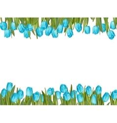 Isolated tulip frame arrangement EPS 10 vector image