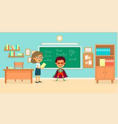 kids superheroes cartoon concept vector image