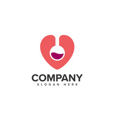 Lab love logo design vector