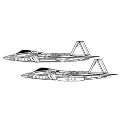 lockheed martin f-22 raptor vector image