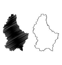 luxemburg map vector image