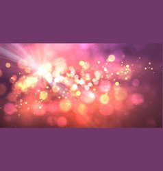 magic background with bokeh and stars vector image