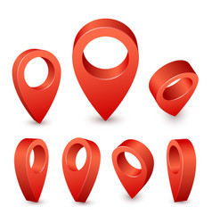 Map pointer 3d pin red pin marker for travel vector