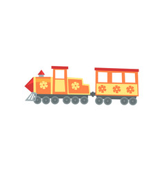 mini train locomotive from funfair carnival vector image