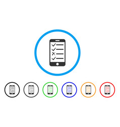 Mobile todo list rounded icon vector