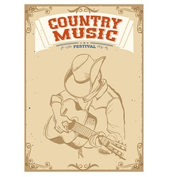Musician playing guitarCountry music festival vector