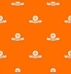navigation pattern orange vector image