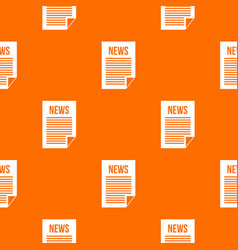news newspaper pattern seamless vector image
